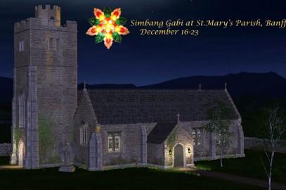 Simbang Gabi at St.Mary;s Parish Banff – Dec. 16-23